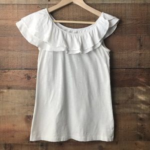Lily Pulitzer Wynne White Ruffled Top Size Small